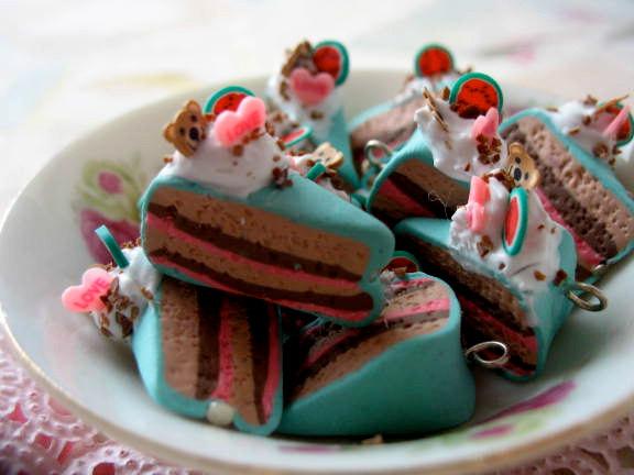 4pcs Cake Fun Charms - Watermelon and Bears