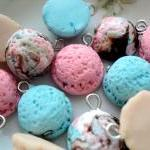 6pcs Assorted Flavors Ice cream scoop charms